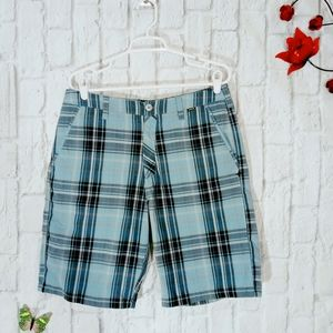 Hurley Plaid Flat Front casual Short